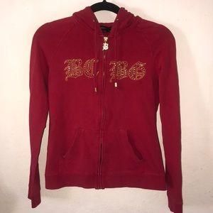 BCBGMAXAZRIA bling hoodie